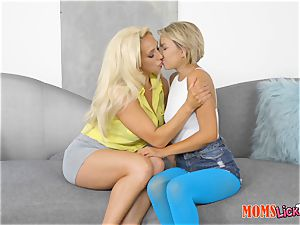 red-hot cougar and nubile Olivia Fox and Ariel Lee scissoring tribute