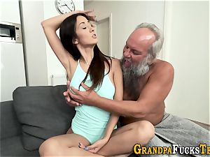 nubile rimmed by old dude