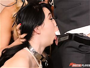 jism gulping cult Cherie Deville, Eva Lovia and Bianca Breeze
