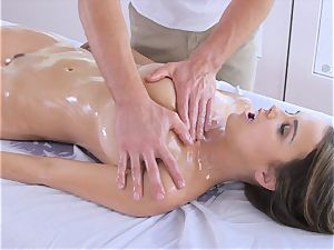 lubricated up black-haired Dillion Harper fondled and boned with yam-sized knob