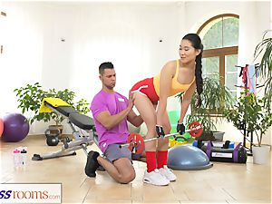 fitness rooms hard-core gym poking and facial