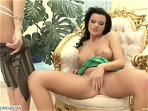 lewd gf Gina B and Judy Nero pounded their vulvas