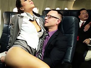 Asa Akira and her hostess mates ravage on flight