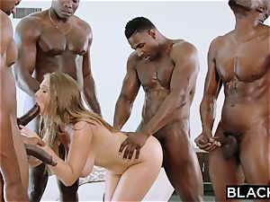 BLACKED Lena Paul first-ever bi-racial group sex