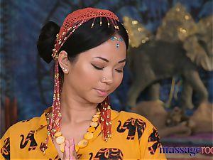 massage rooms super-steamy Thai massagist takes hard trouser snake