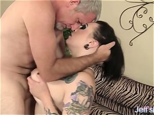 huge-chested tatted plumper enjoys to pulverize