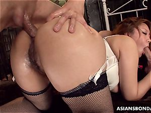 giving her caboose up in a crazy domination & submission session