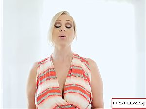 FirstClass point of view - love Julia Ann deepthroating a gigantic huge jizz-shotgun