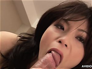 fellating a thick meaty beef whistle and she has a good time too