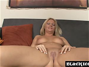 buxom milf deep throating and boinking enormous dark-hued pipe