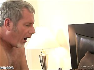 dad tears up his youthfull stepdaughter Nicole Ray